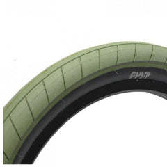 Cult Dehart Slick Tire olive green BMX