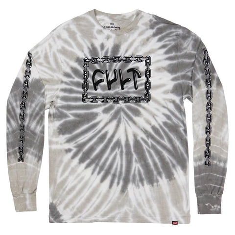 Cult For Life Long Sleeve Shirt grey tie dye BMX