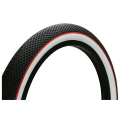 Cult Vans Tire black with white wall red stripe bmx tires