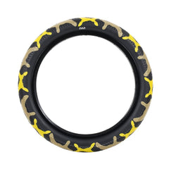 Cult Vans Tire yellow camo BMX Tires
