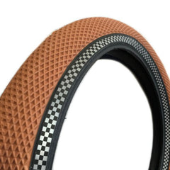 Cult Vans Tire gum with reflective checkered sidewall bmx tires