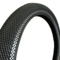 Cult Vans Tire black with reflective checkered sidewall bmx tires