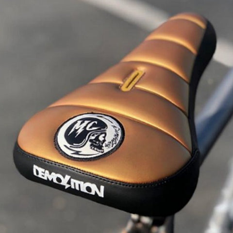 Demolition MC Seat gold black BMX