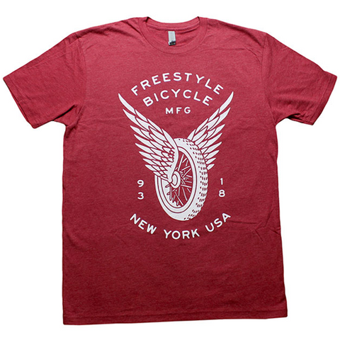 FBM Freestyle Shirt Cardinal Heather BMX