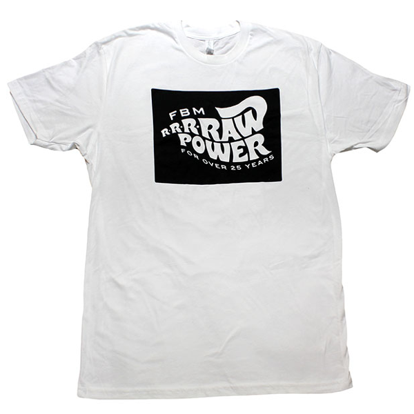 FBM Raw Power Shirt White BMX