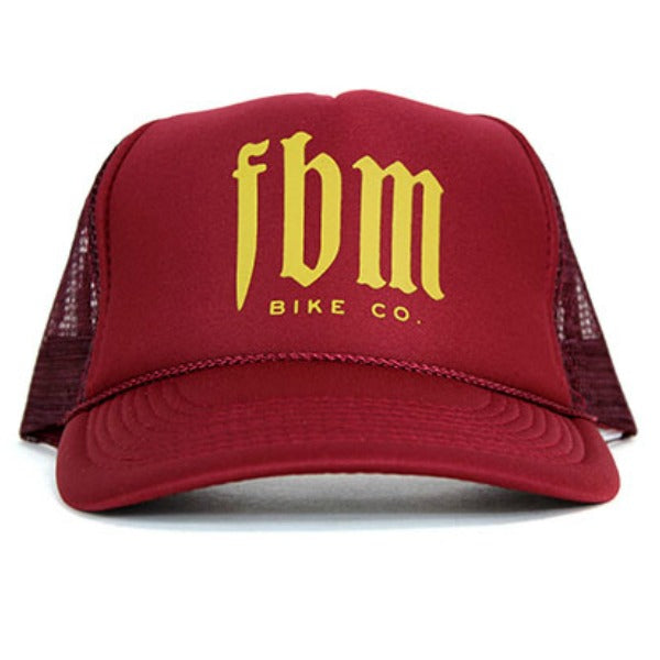FBM Script Trucker Mesh Hat maroon red