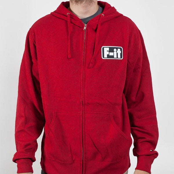 Fit Patch Hoodie red