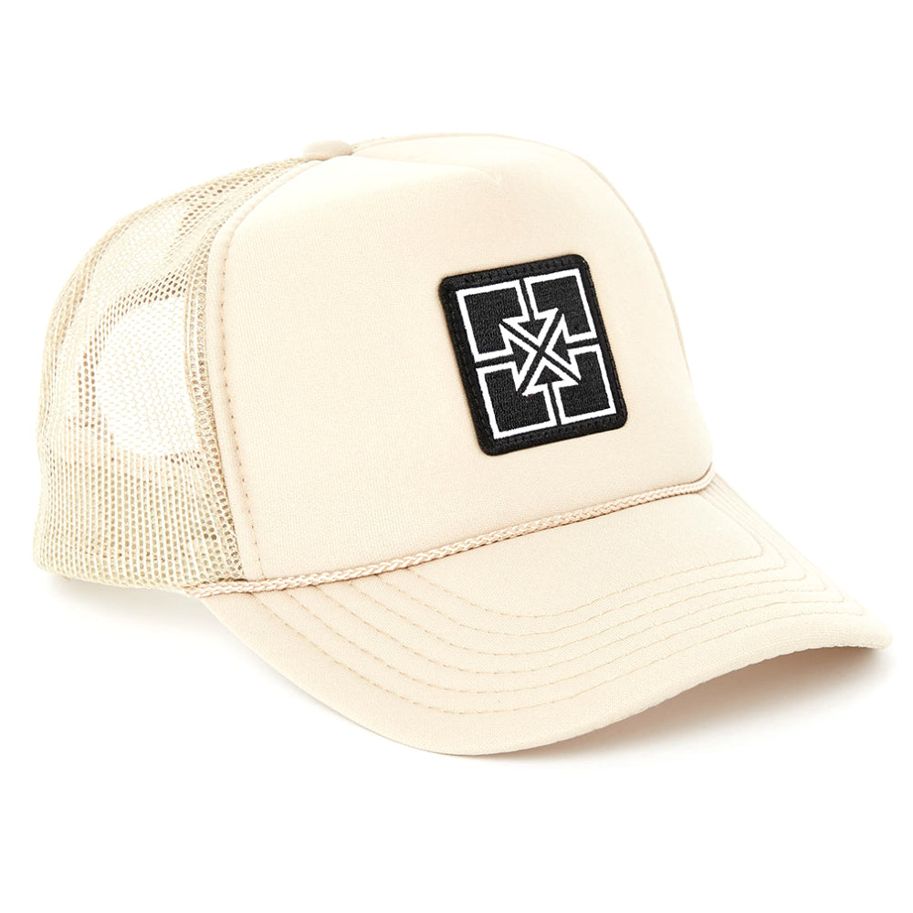 Fit Key Patch Trucker Hat khaki white tan BMX HAts
