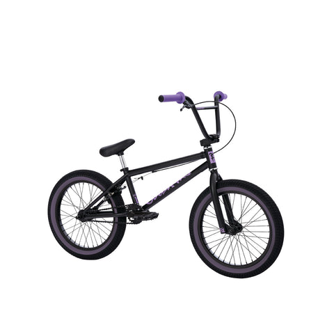 "2021 Fit Misfit 18 ""Bike Matte Black Purple Complete BMX bikes 2020"