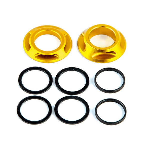 Fit 22mm Cones Spacers Dust Covers gold BMX