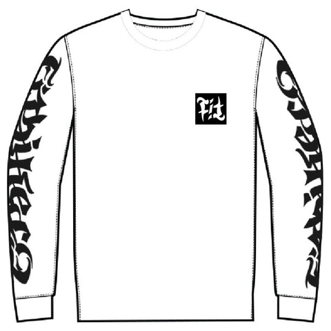 Fit Gram Long Sleeve Shirt white BMX Tee