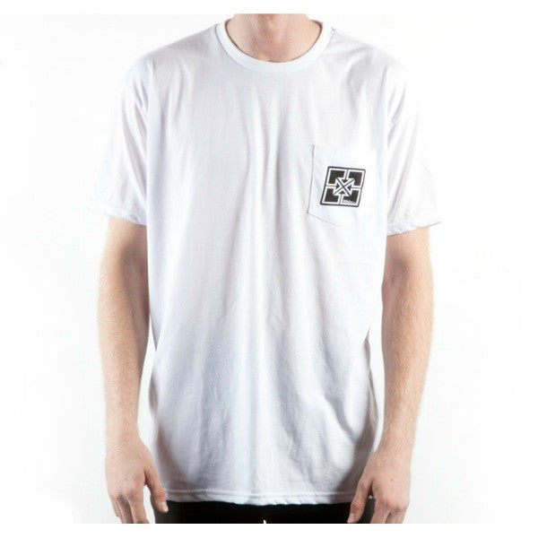 Fit Key Pocket Tee Shirt white