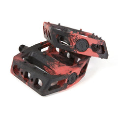 Fit MAC PC Pedals red black swirl