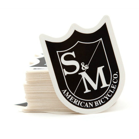 S&M Medium Shield Stickers 100 Pack