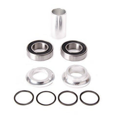 Merritt Mid Bottom Bracket Kit polished silver BMX Bearings