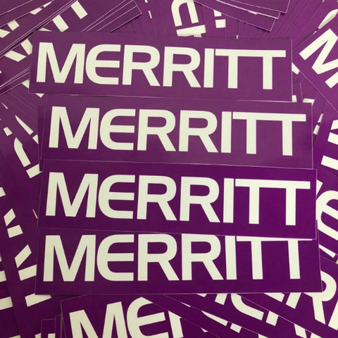 Merritt Big Frame Sticker purple BMX