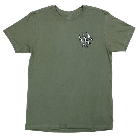 Odyssey Ripped Monogram Tee Broc Raiford BMX Shirt olive green Grizzly Bear
