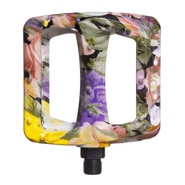 Odyssey Aloha Twisted PC Pedals yellow purple floral
