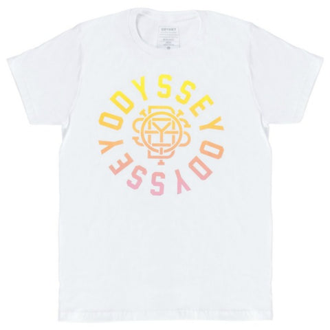 Odyssey Central Shirt white sunset fade BMX Tee