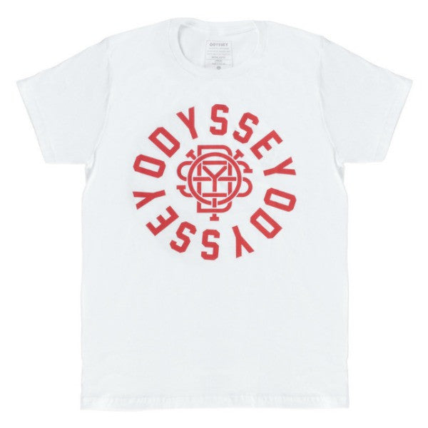 Odyssey Central Tee Shirt white red