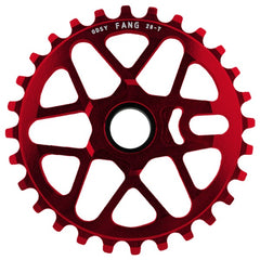 Odyssey Fang Sprocket anodized red BMX
