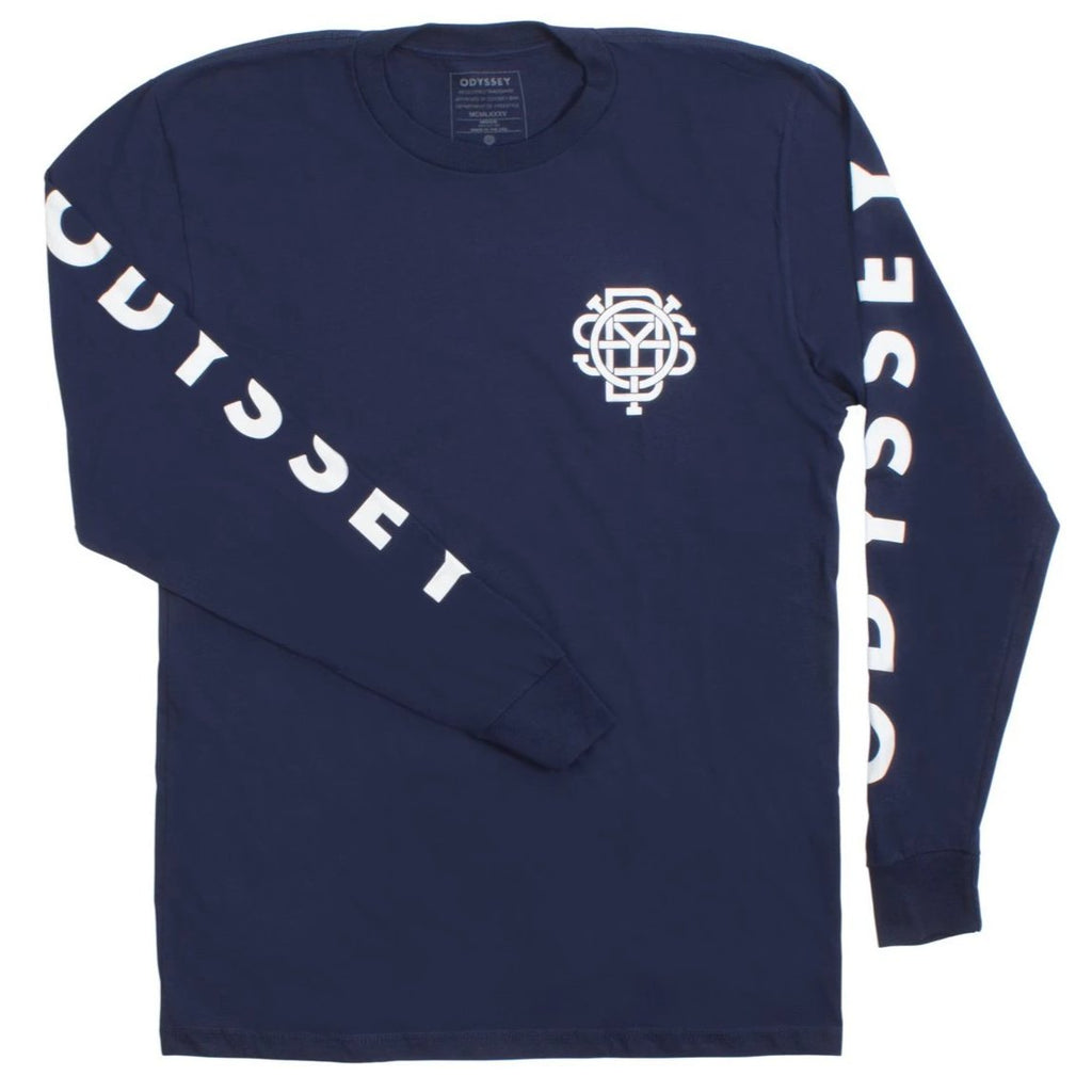 Odyssey Futura Long Sleeve Shirt navy BMX tee