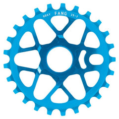 Odyssey Fang Sprocket anodized cyan blue