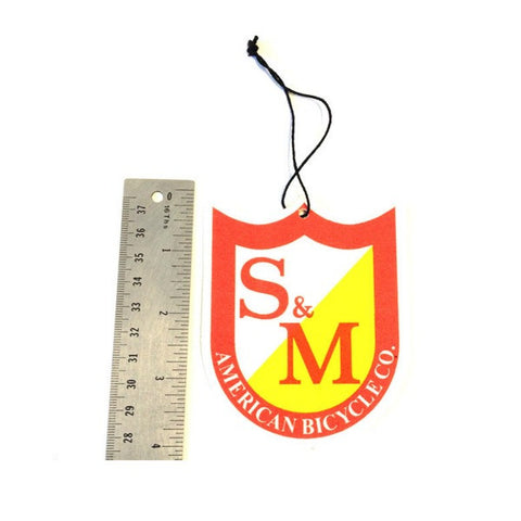 S&M Bikes Air Freshener Shield Logo BMX