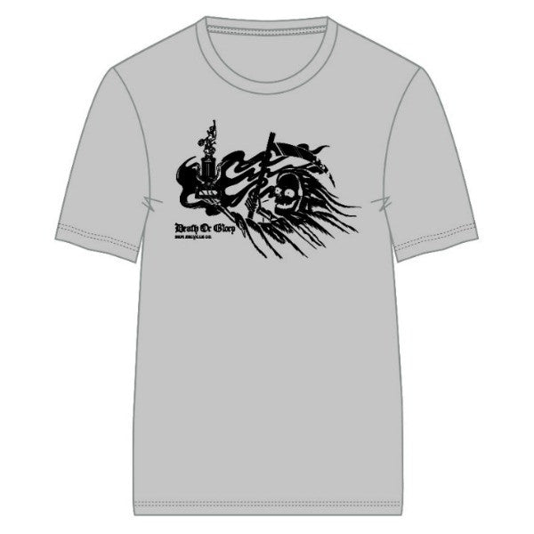 S&M Death or Glory Tee Shirt heather grey