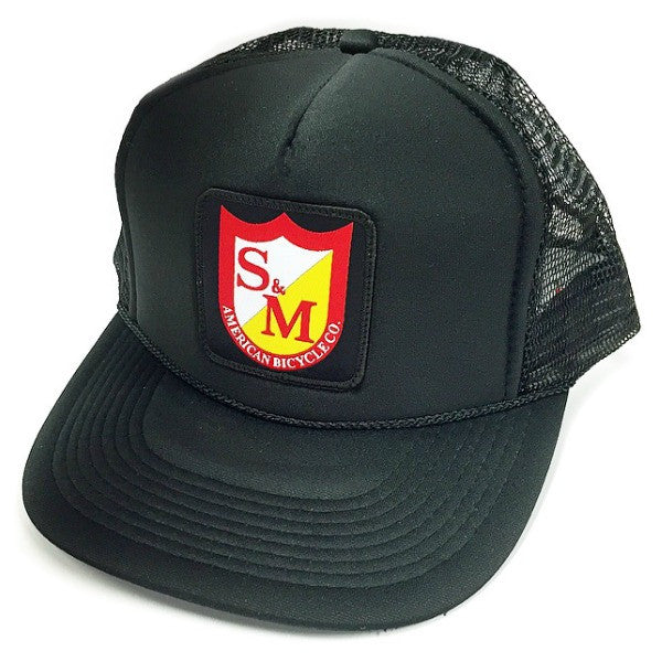 S&M Bikes Patch Trucker Hat BMX Shield