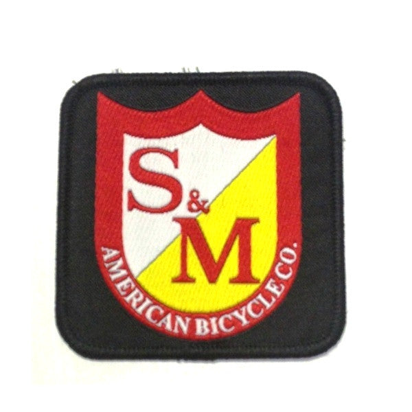 S&M Bikes Shield Patch Logo BMX