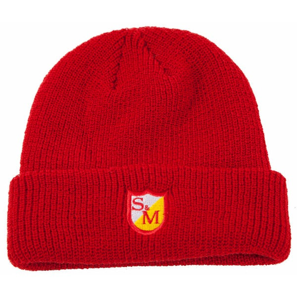 S&M Shield Beanie red