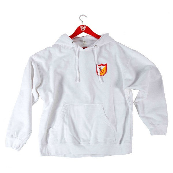 S&M Shield Pullover Hoodie white