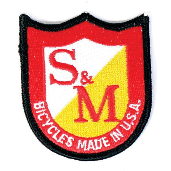 S&M Bikes Shield Logo Patch BMX
