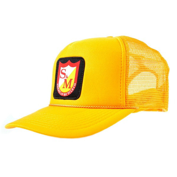 S&M Patch Trucker Hat gold