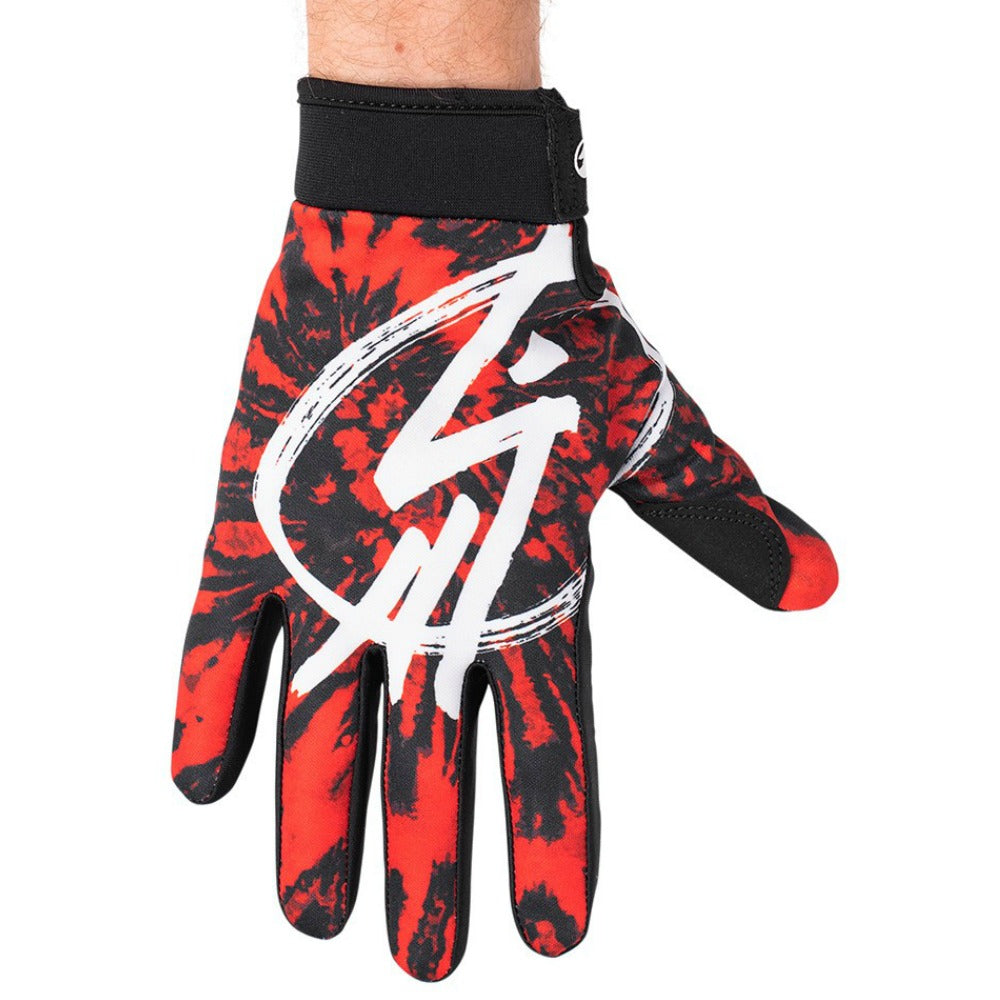 The Shadow Conspiracy Conspire Gloves red tye die BMX Glove