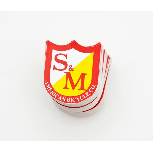 S&M Small Shield Stickers 100 Pack
