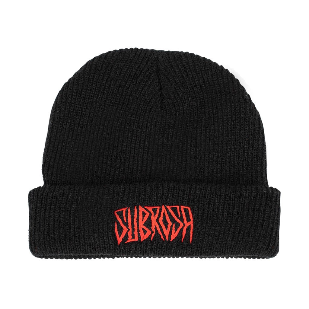 Subrosa Carved Beanie black red BMX