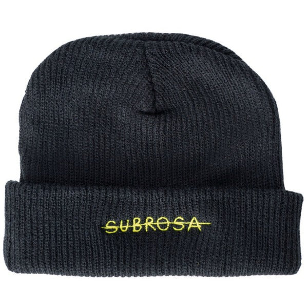 Subrosa Crossed Beanie black yellow BMX