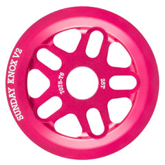 Sunday Knox V2 Sprocket Fuchsia Pink BMX Guard Sprockets