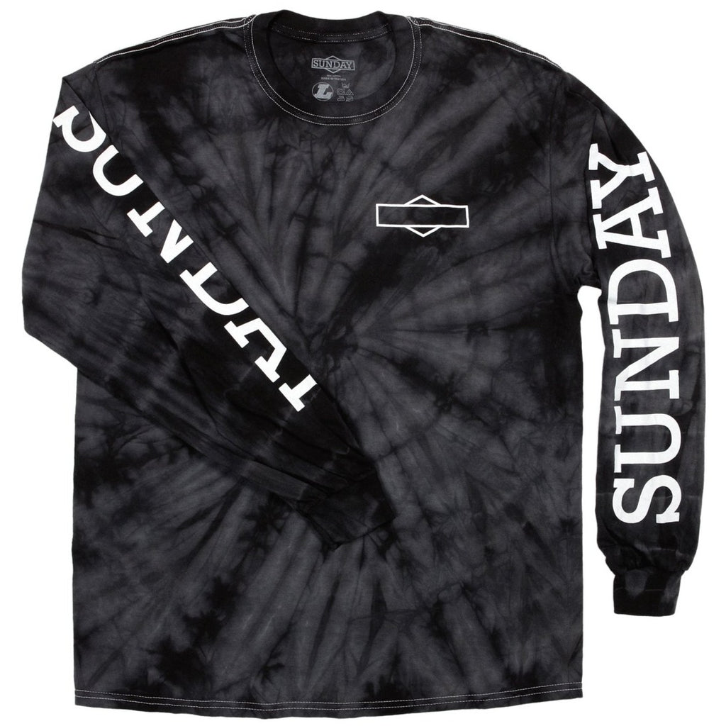 Sunday Rockwell Long Sleeve Shirt Black tie die BMX Tee