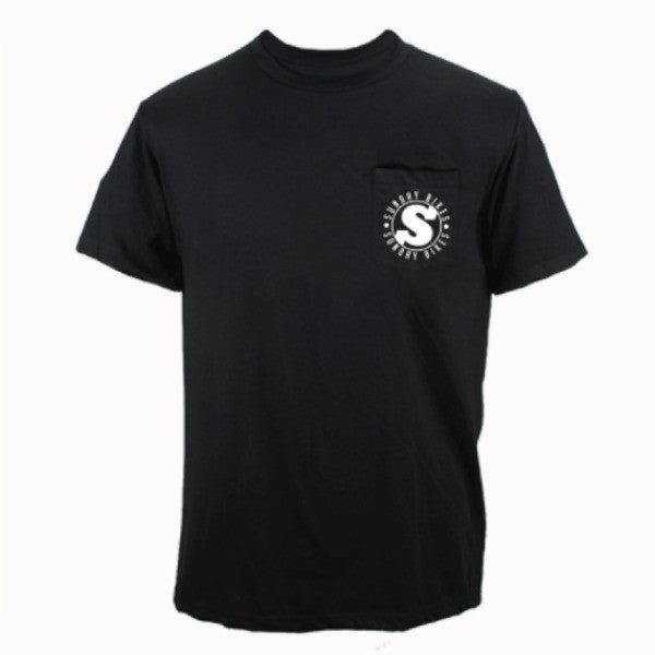 Sunday Badge Pocket Tee Shirt black BMX