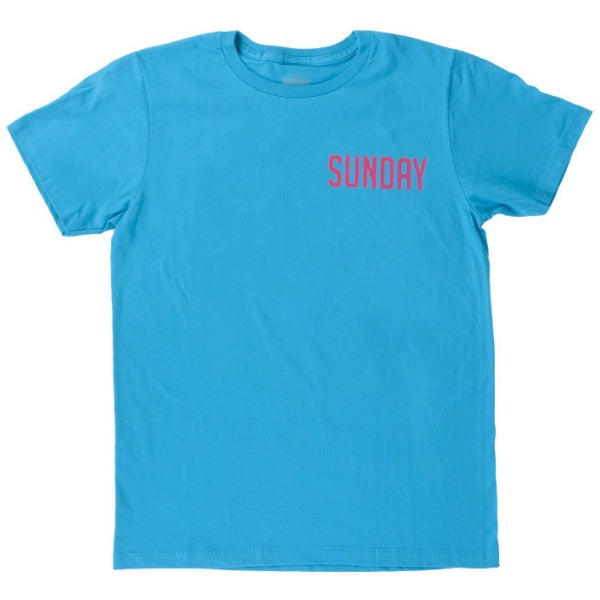 Sunday Badge Tee Shirt blue BMX