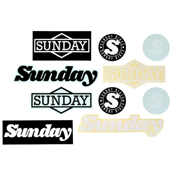 Sunday Sticker Pack BMX Stickers