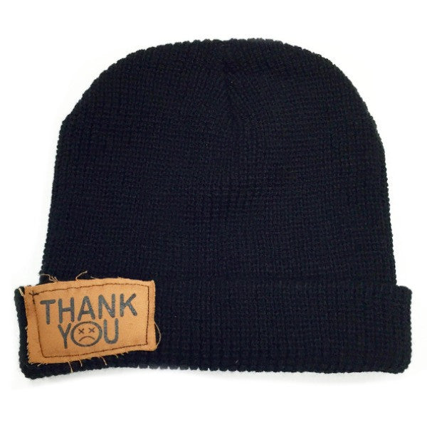 Thank You Patch Beanie black