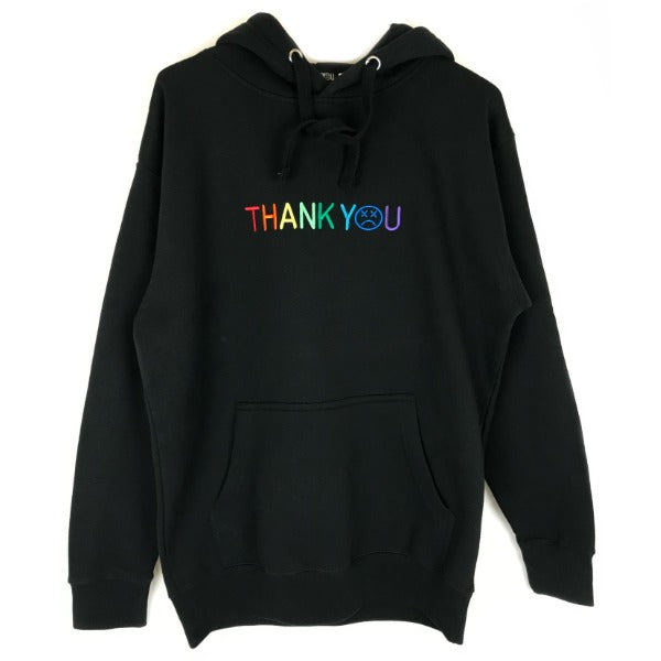 Thank You Embroidered Logo Hoodie rainbow BMX