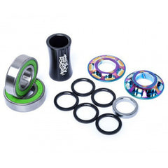 Total Bottom Bracket oil slick rainbow BMX