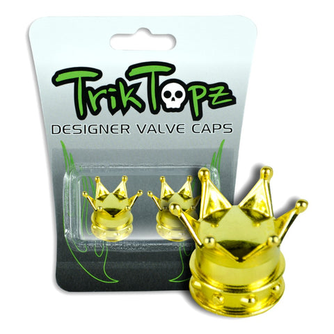 Trik Topz Crown Valve Caps gold BMX Trick Tops