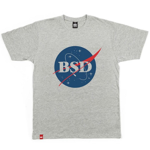 BSD space agency shirt. Heather grey