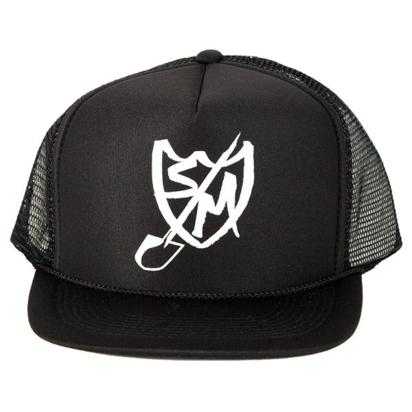 S&M Shovel Shield Trucker Hat black BMX